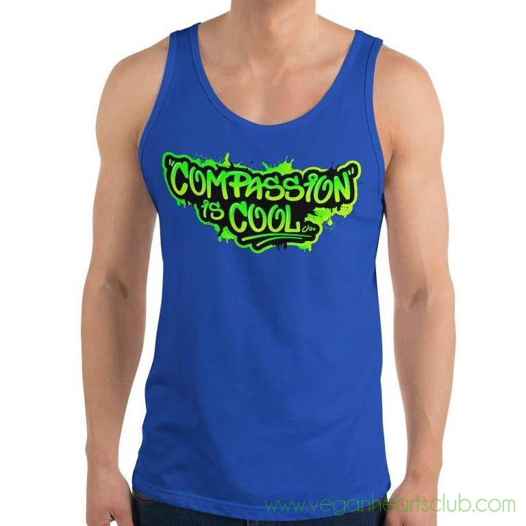 Compassion is COOL Green Graffiti Mens Tank Top