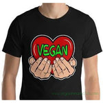 Vegan Heart In Your Hands Version 2 Mens dark color Short-Sleeve T-Shirt
