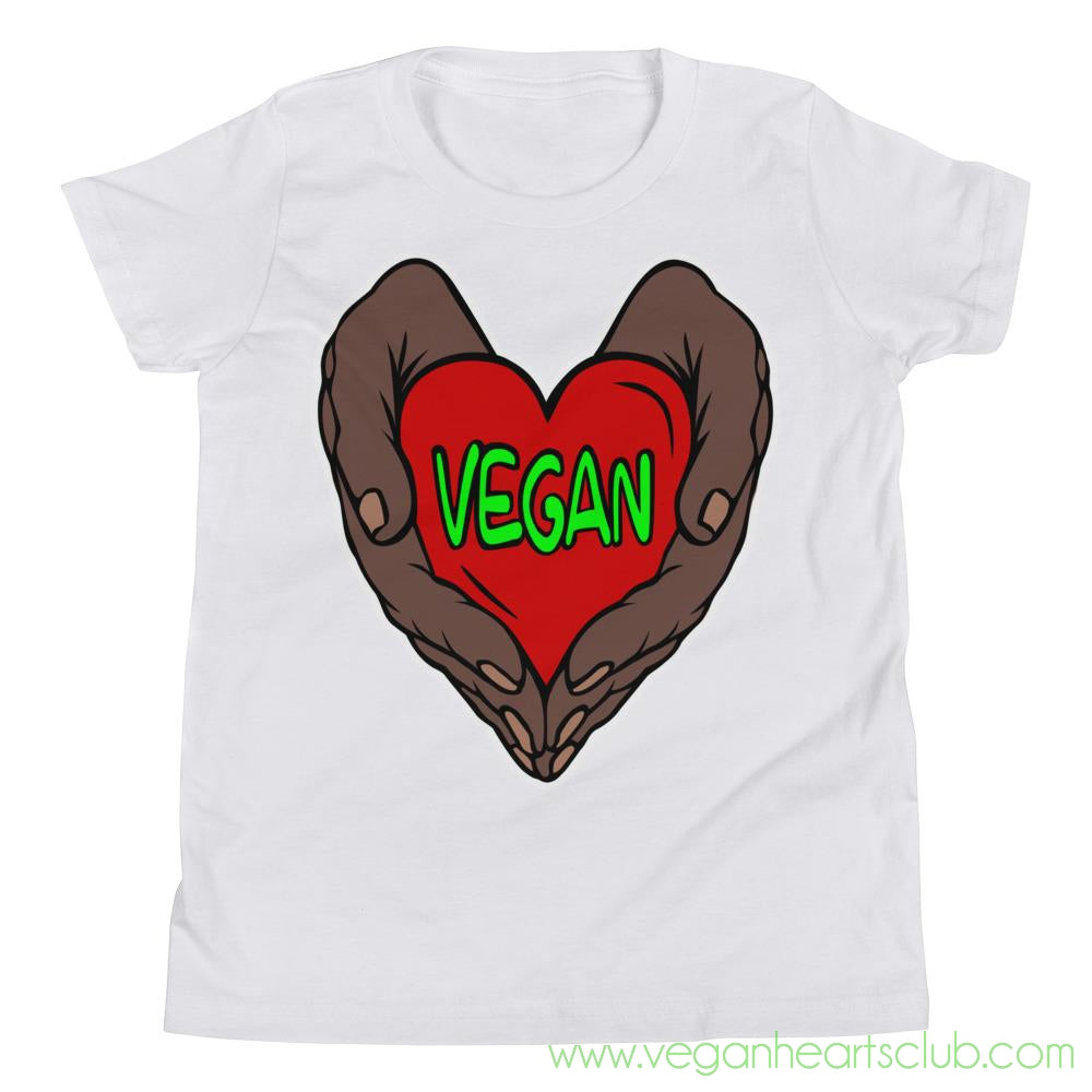 Vegan Heart In Your Hands Version 1B Youth Short-Sleeve T-Shirt