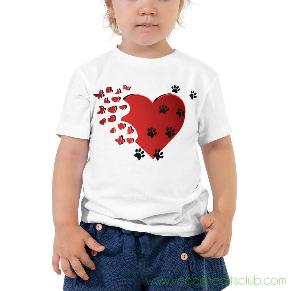 Cat Memories Paw Prints Toddler light color Short-Sleeve T-Shirt