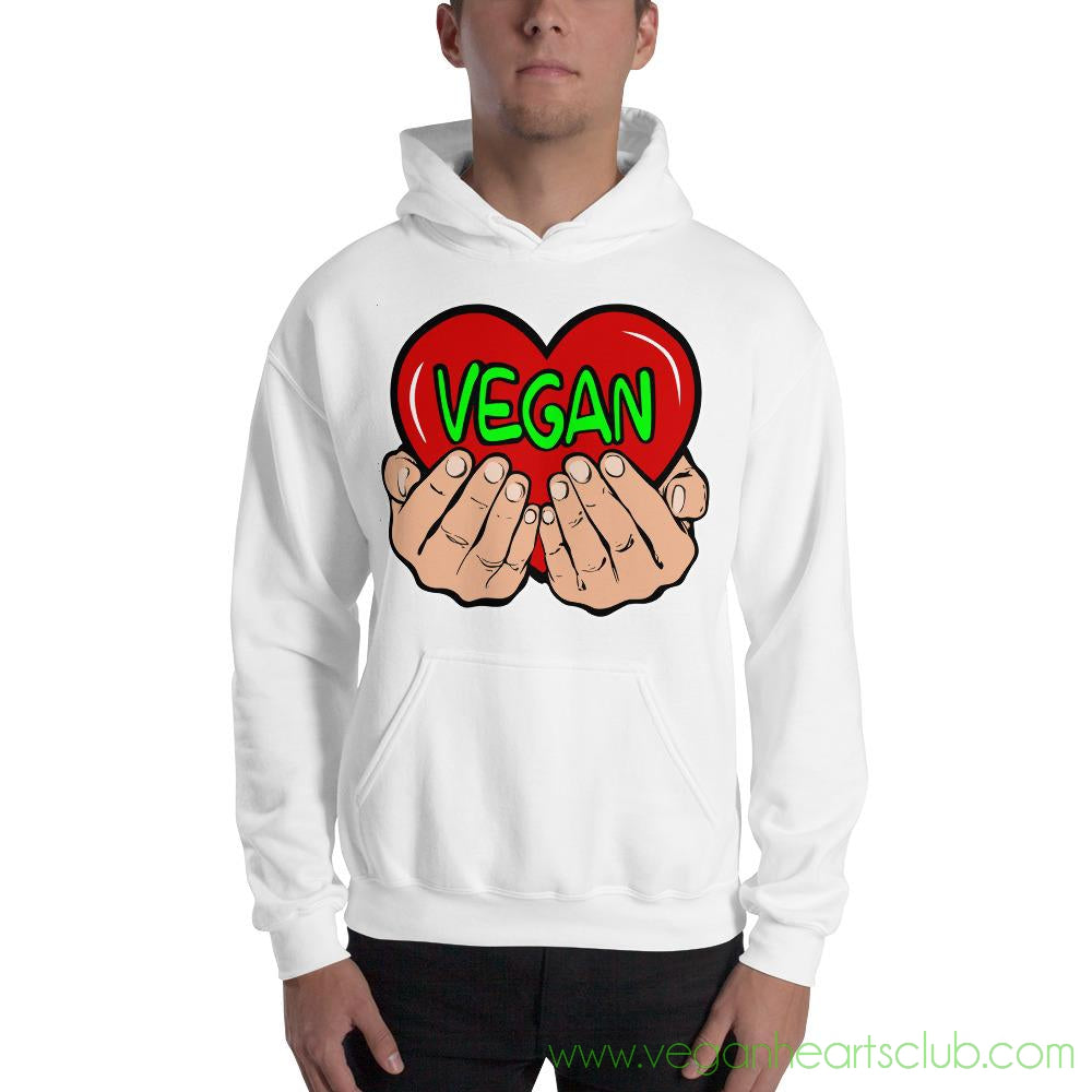 Vegan Heart in Your Hands VS2 Mens Hoodie