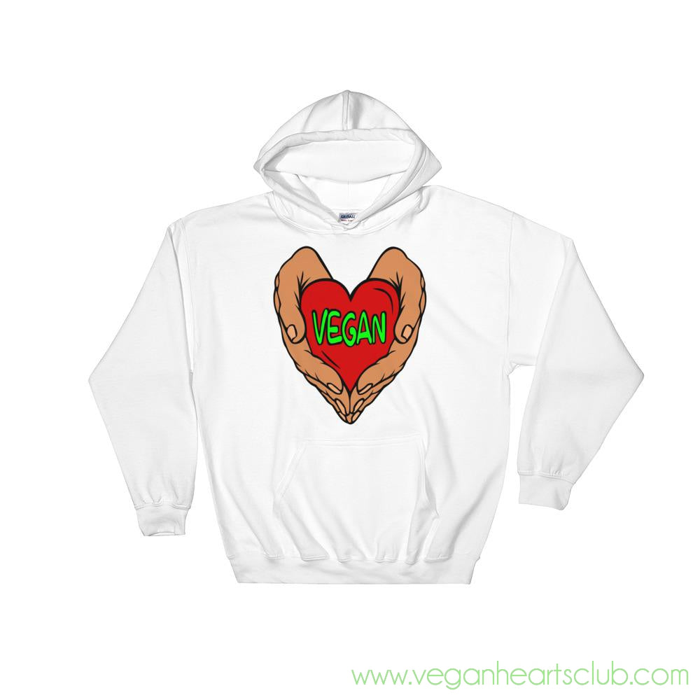 Vegan Heart In Your Hands Version 1A Mens Hoodie