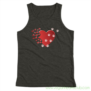 Cat Memories Paw Prints Youth Tank Top