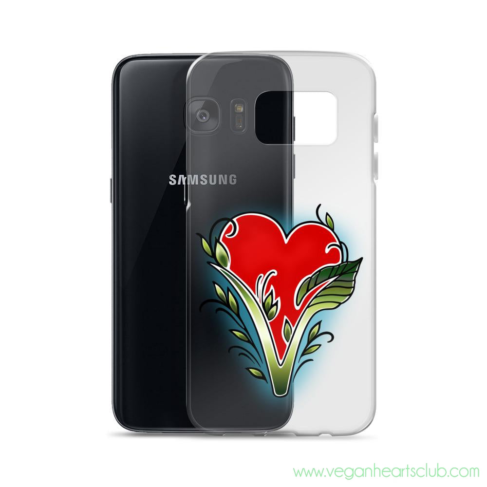 Samsung Case with official Vegan Hearts Club Logo - Vegan Hearts Club