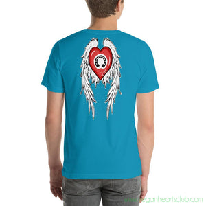 Heart, Horse Shoe And Angel Wings Mens dark color Short-Sleeve T-Shirt - Vegan Hearts Club