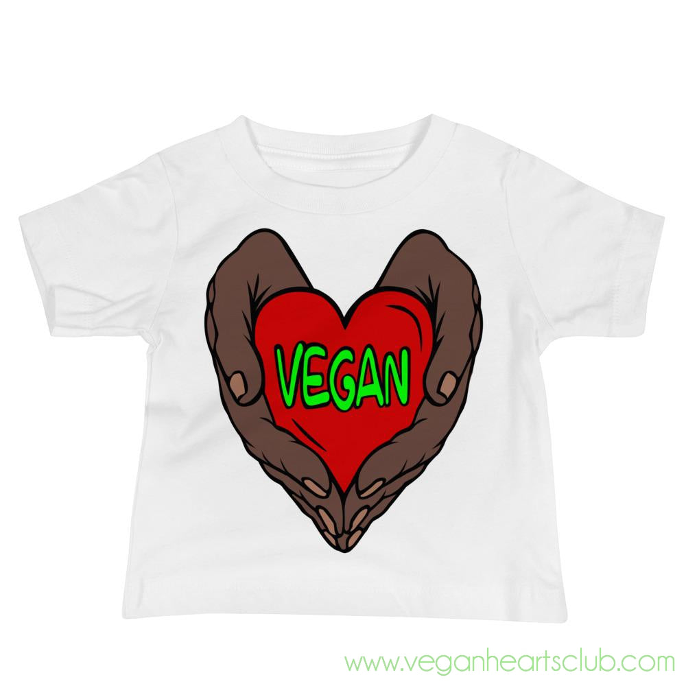 Vegan Heart In Your Hands Version 1B Babies Short-Sleeve T-Shirt