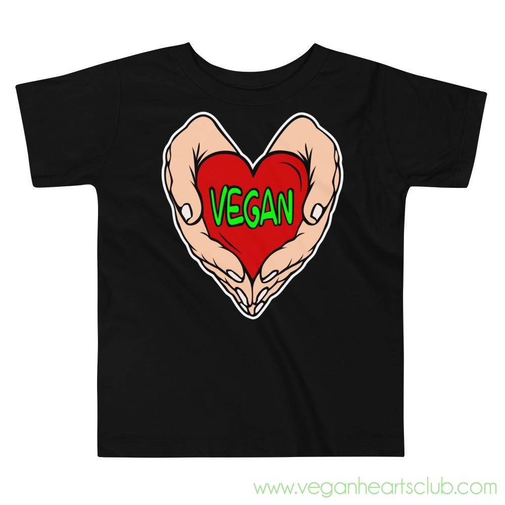 Vegan Heart In Your Hands Version 1C Toddler Short-Sleeve T-Shirt