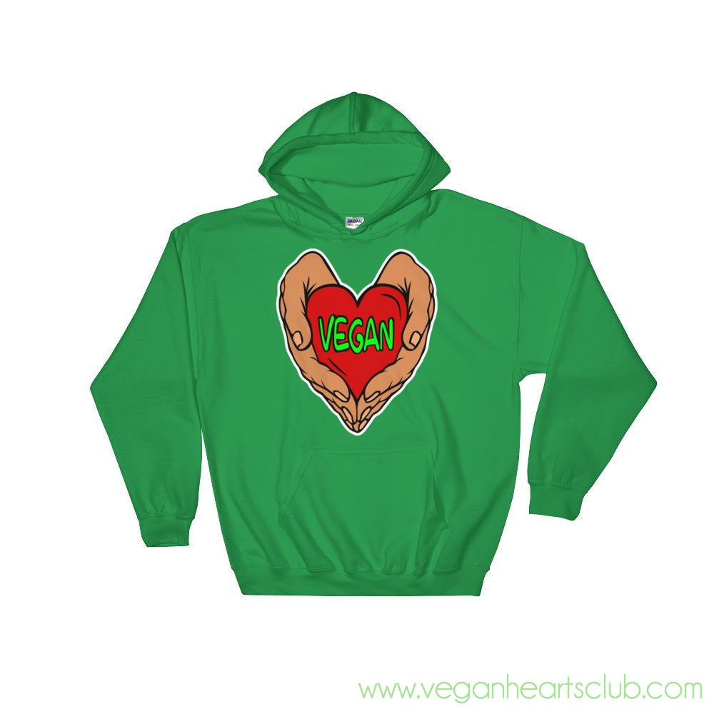 Vegan Heart In Your Hands Version 1A Womens Hoodie