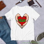Vegan Heart In Your Hands Version 1C Mens Short-Sleeve T-Shirt