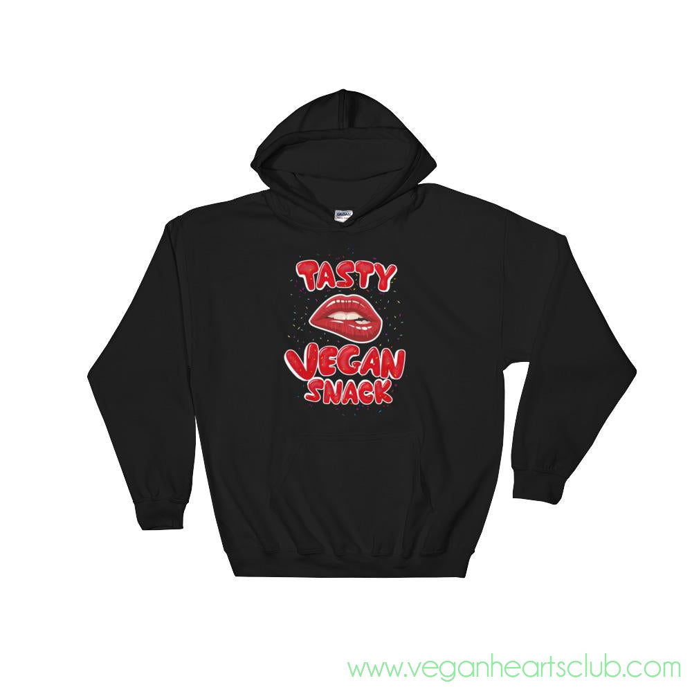 Tasty Vegan Snack Womens dark color Hoodie - Vegan Hearts Club