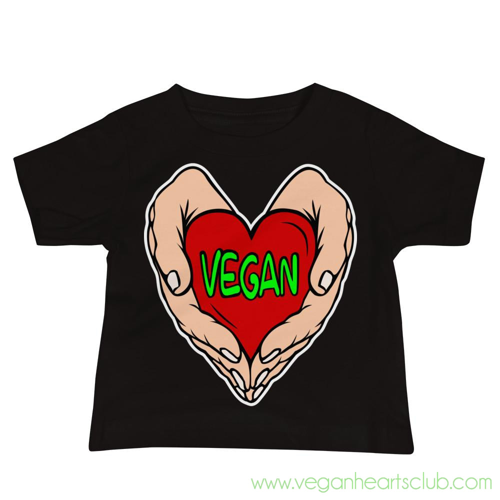 Vegan Heart In Your Hands Version 1C Babies Short-Sleeve T-Shirt
