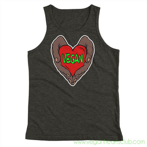 Vegan Heart In Your Hands Version 1B Youth Tank Top