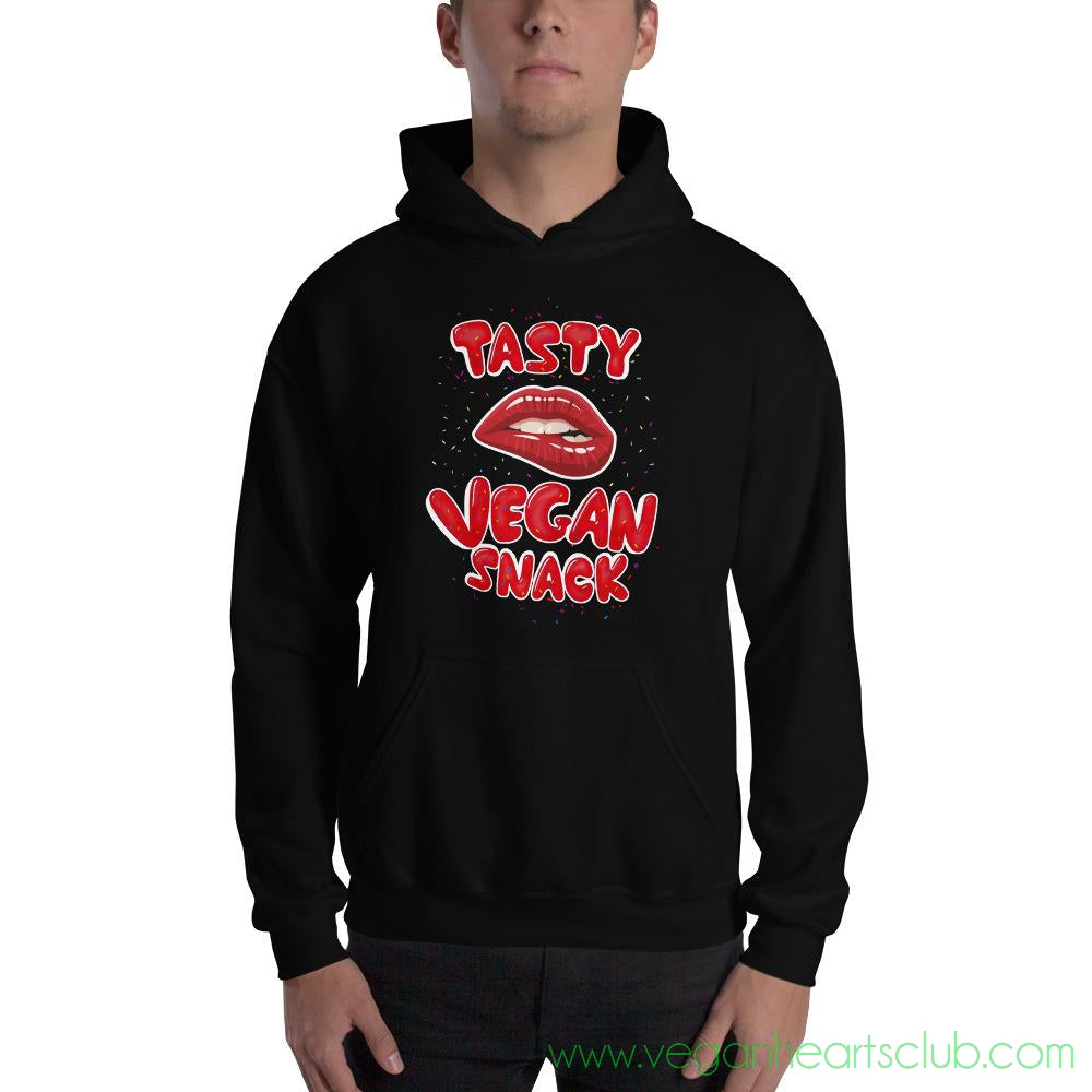 Tasty Vegan Snack Mens dark color Hoodie - Vegan Hearts Club