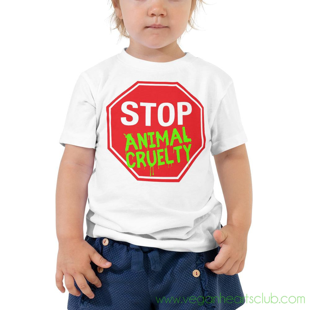 STOP Animal Cruelty Toddler Short Sleeve Tee
