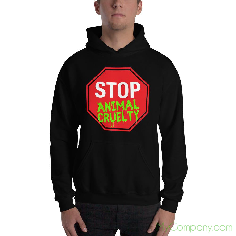 STOP Animal Cruelty Mens Hoodie