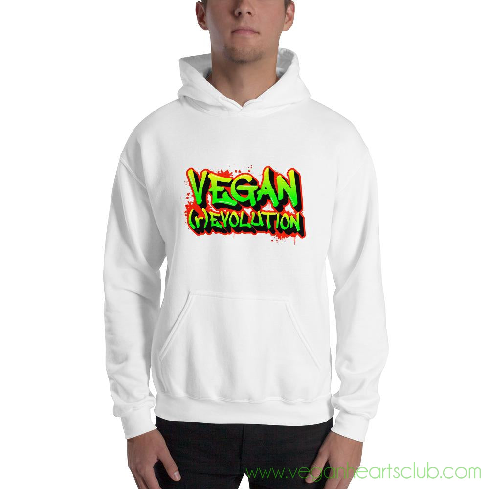 Join the VEGAN (r)EVOLUTION! Vs2 Mens Hoodie