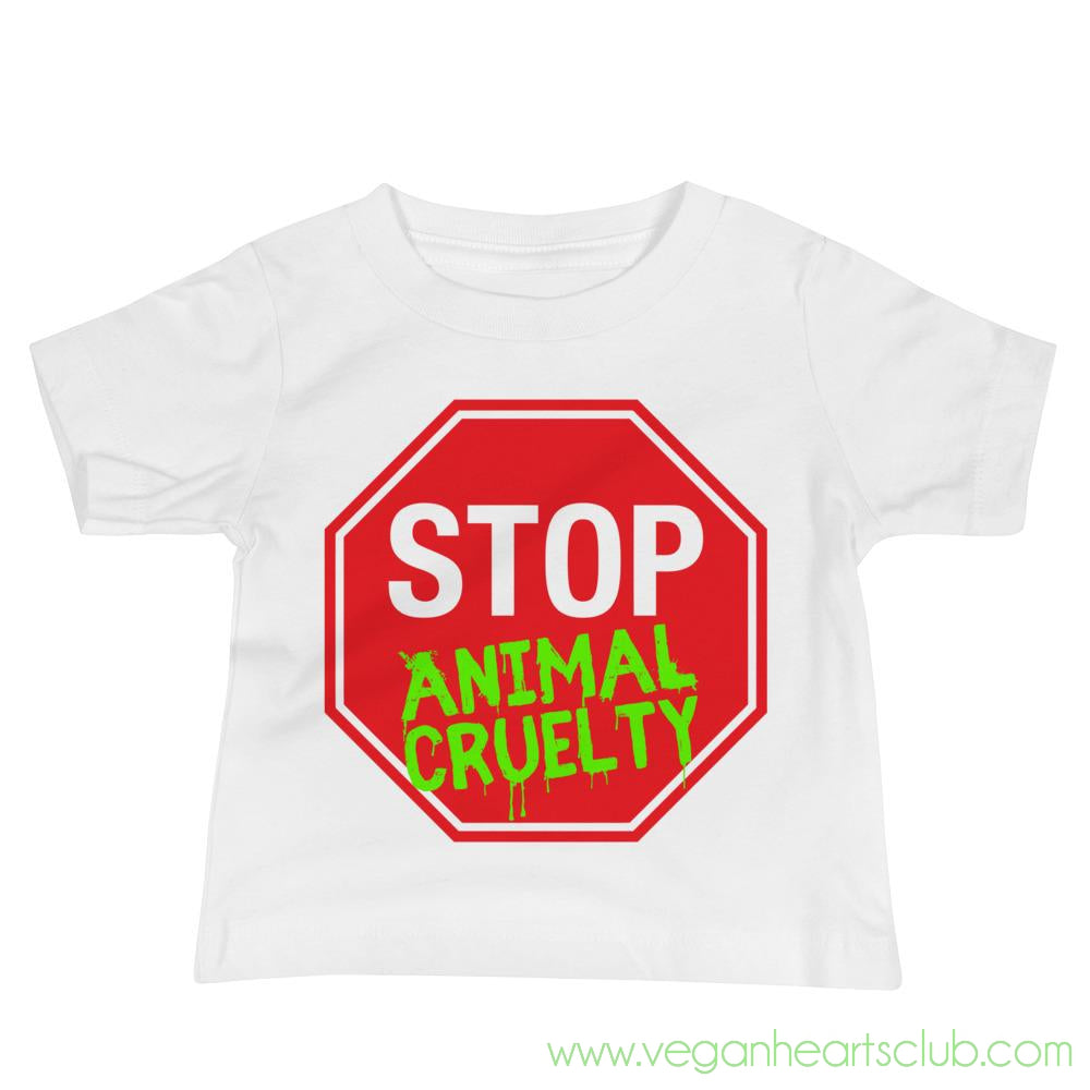 STOP Animal Cruelty Baby Jersey Short Sleeve Tee