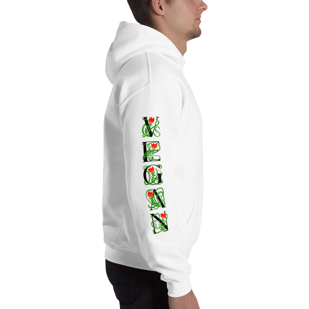 VEGAN Vine Sleeves Mens light color Hoodie