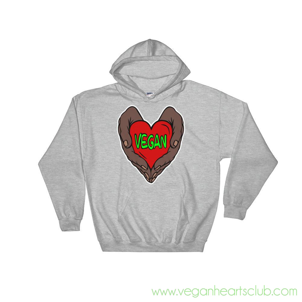 Vegan Heart In Your Hands Version 1B Mens Hoodie