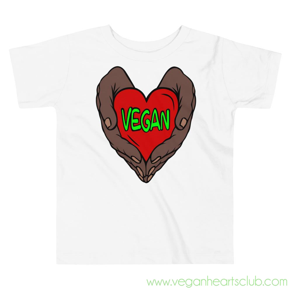 Vegan Heart In Your Hands Version 1B Toddler Short-Sleeve T-Shirt