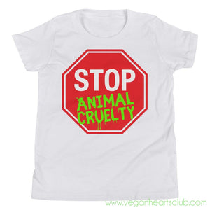 STOP Animal Cruelty Youth Short Sleeve T-Shirt