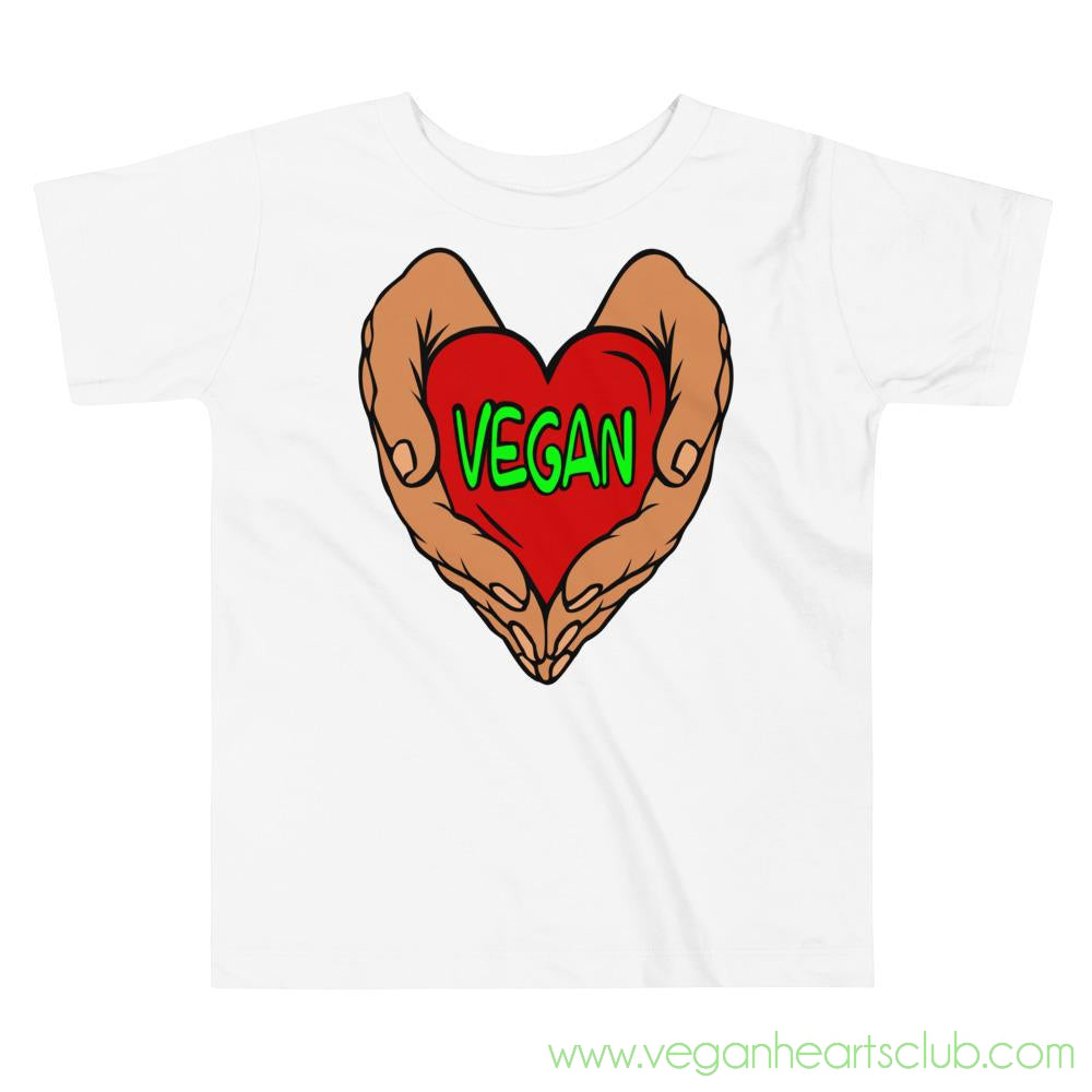 Vegan Heart In Your Hands Version 1A Toddler Short-Sleeve T-Shirt