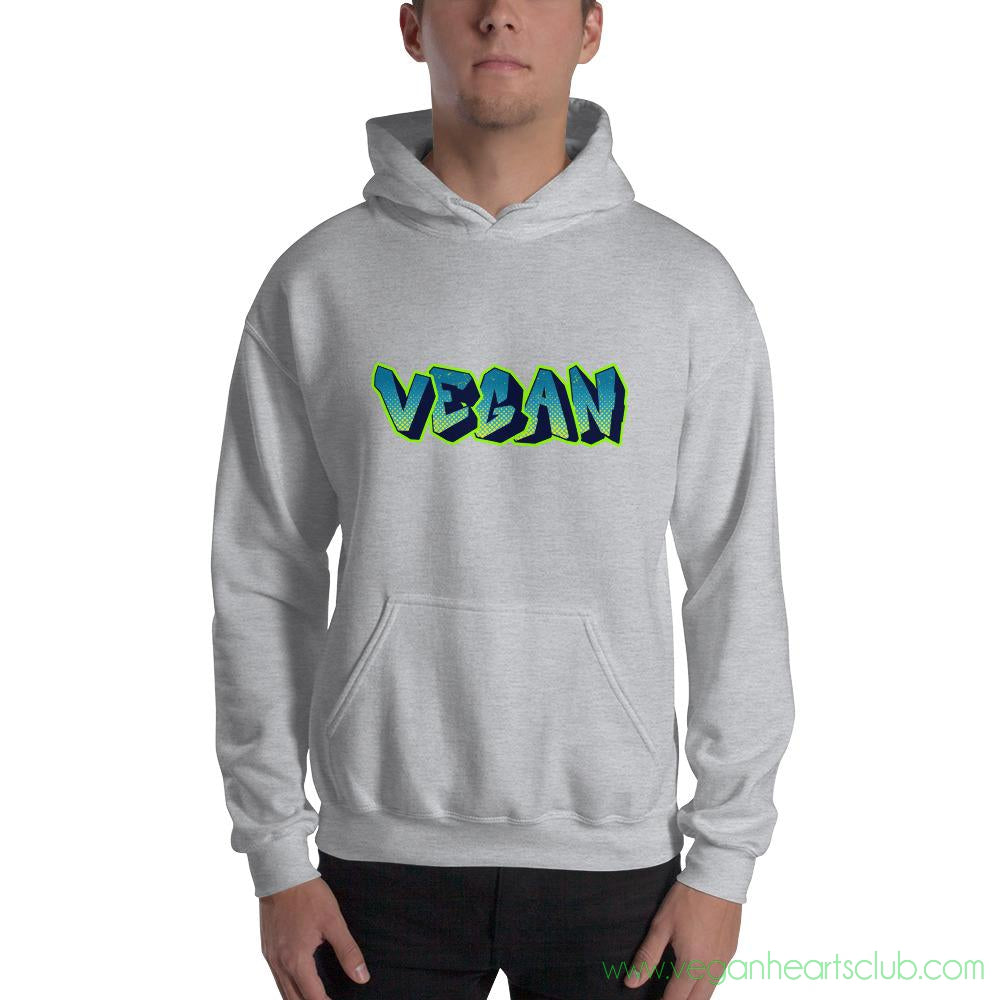 VEGAN Graffiti Mens Hoodie - Vegan Hearts Club