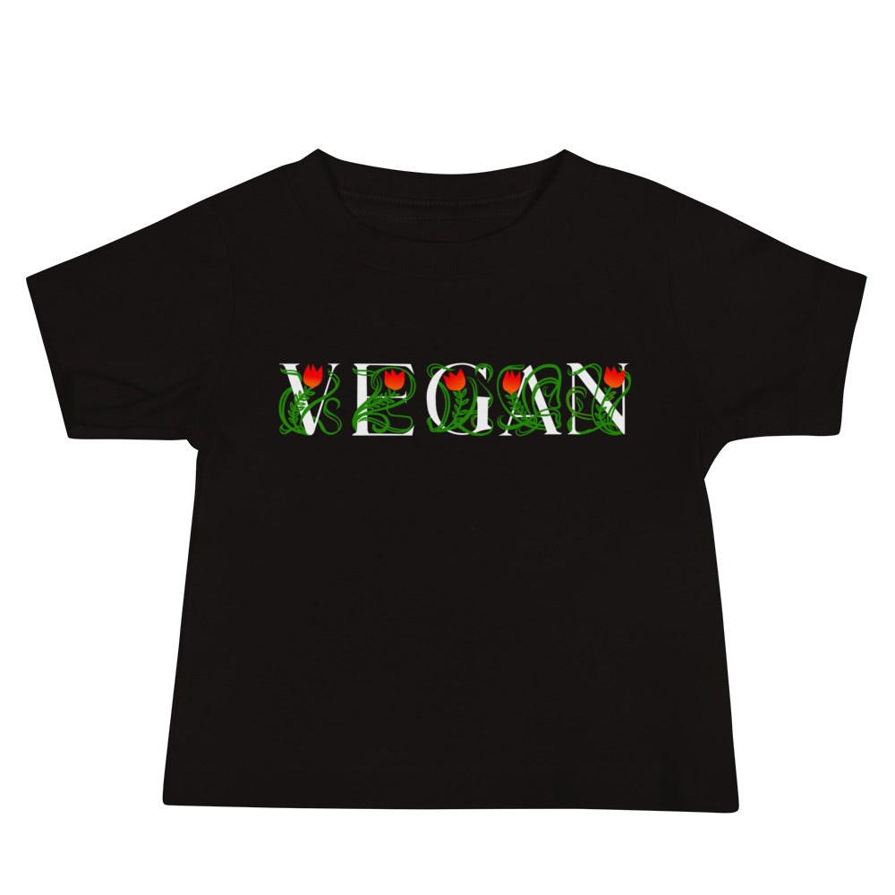 VEGAN Vines dark color Baby Jersey Short Sleeve Tee