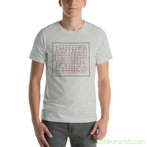 Vegan Word Search Mens light color Short-Sleeve T-Shirt