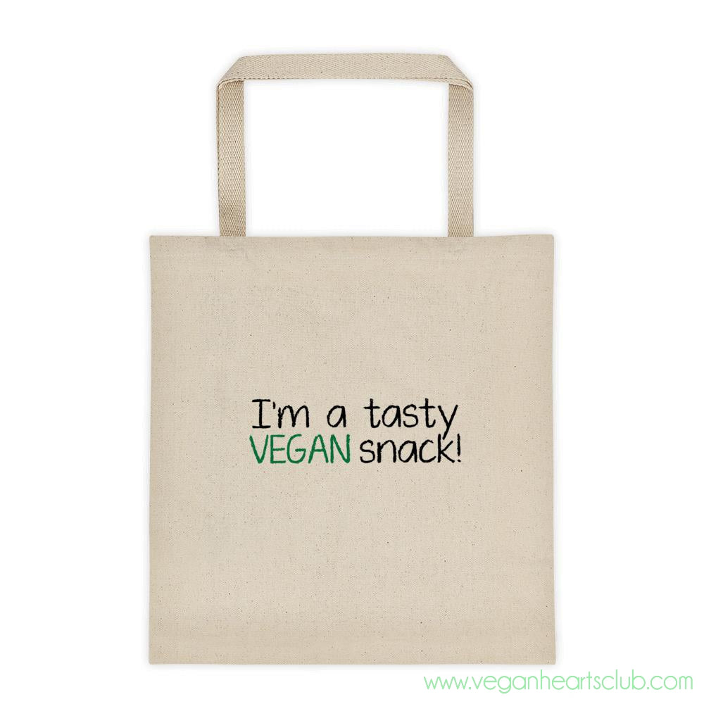 I'm a tasty VEGAN snack!  Tote bag - Vegan Hearts Club