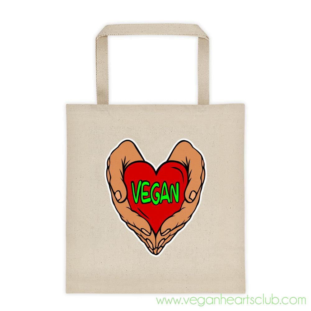 Vegan Heart in Your Hands Version 1A Tote bag