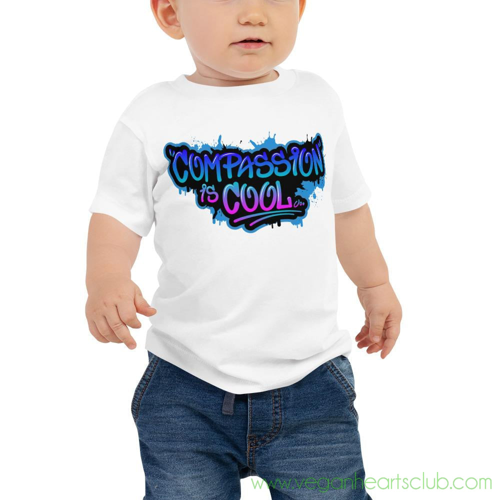 Compassion is COOL Blue Graffiti Baby Jersey Short Sleeve Tee
