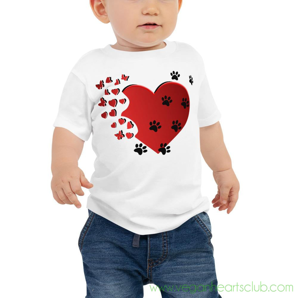 Cat Memories Paw Prints Baby light color Short-Sleeve T-Shirt