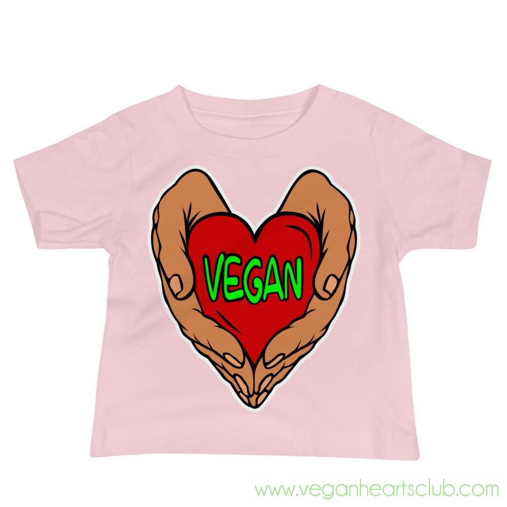 Vegan Heart In Your Hands Version 1A Babies Short-Sleeve T-Shirt