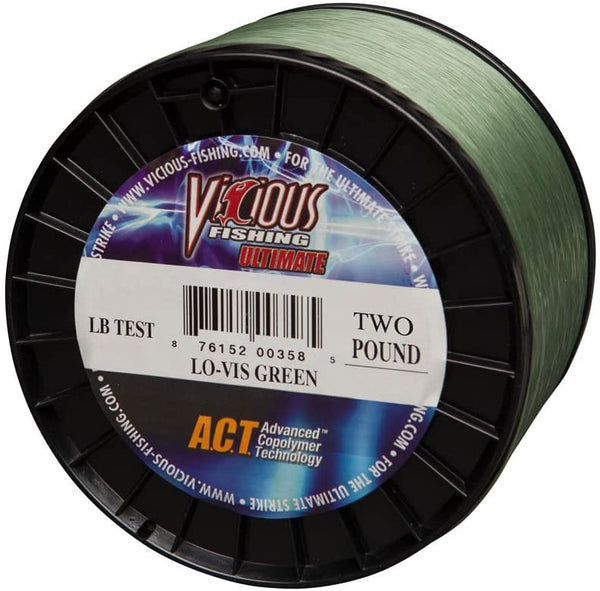 Vicious Fishing 25# Ultimate Line, Lo-Vis Green, 660 yd.