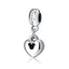 BLACK OPEN HEART CHARM