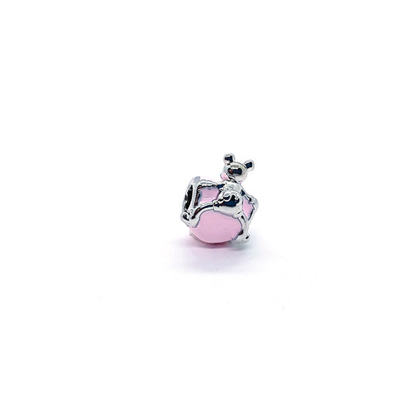 PINK MOUSE LOVE CHARM - Disney Jewelry Jewellery Mickey Mouse Minnie