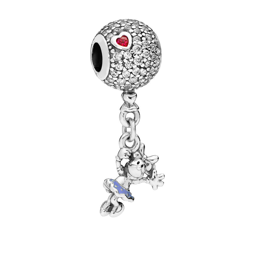 SPARKLE AND BLUE DRESS DANGLE CHARM - Disney Jewelry Jewellery Mickey Mouse Minnie