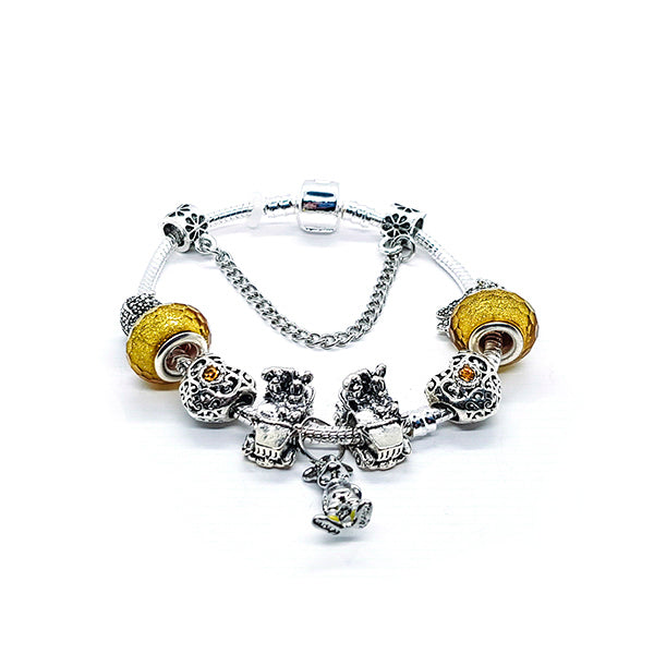 YELLOW MOUSE BRACELET - Disney Jewelry Jewellery Mickey Mouse Minnie