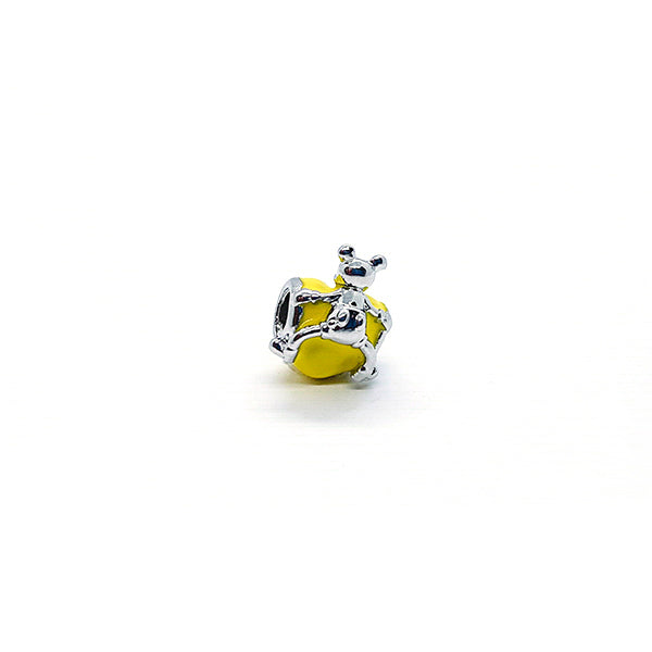 YELLOW MOUSE LOVE CHARM - Disney Jewelry Jewellery Mickey Mouse Minnie