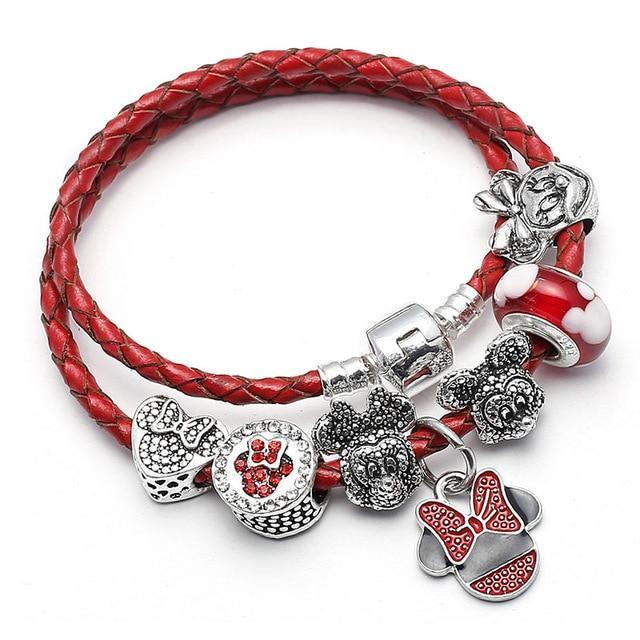 GLIMING RED MOUSE BRACELET - Disney Jewelry Jewellery Mickey Mouse Minnie