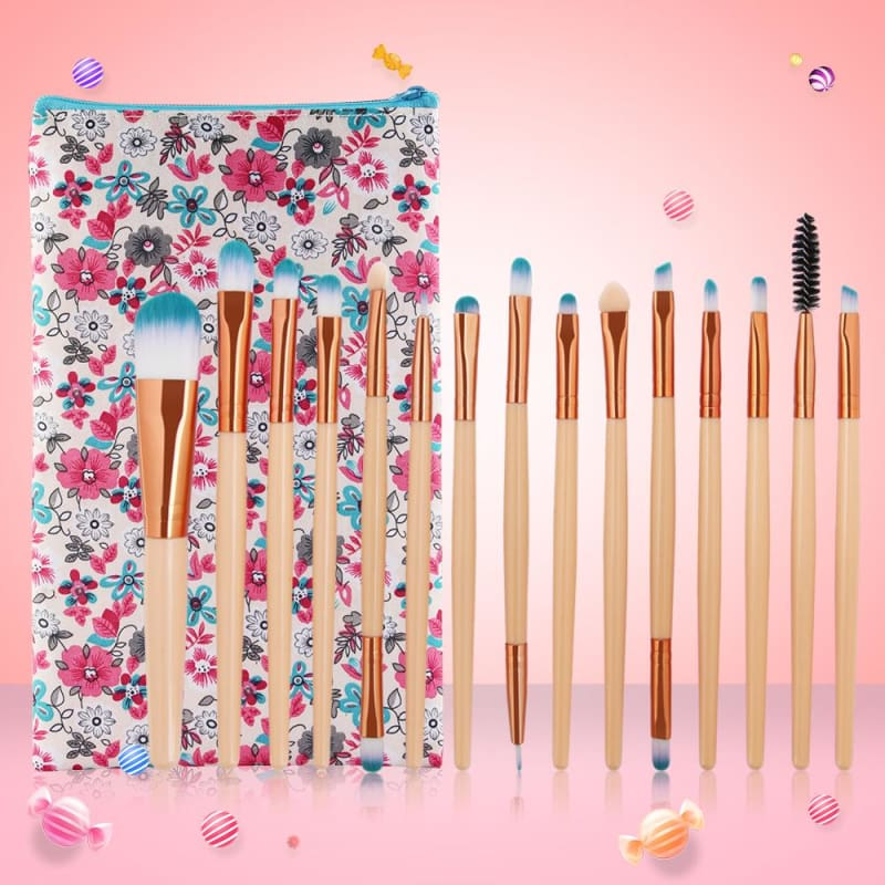15 Piece Vegan Pro Brush Set - makeup brushes