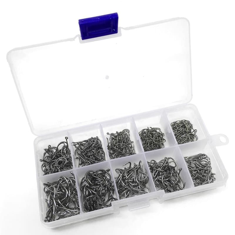 FREE 500pcs Assorted Sharpened Fishing Hooks With Tackle Box - FLASH OFFER - fishing