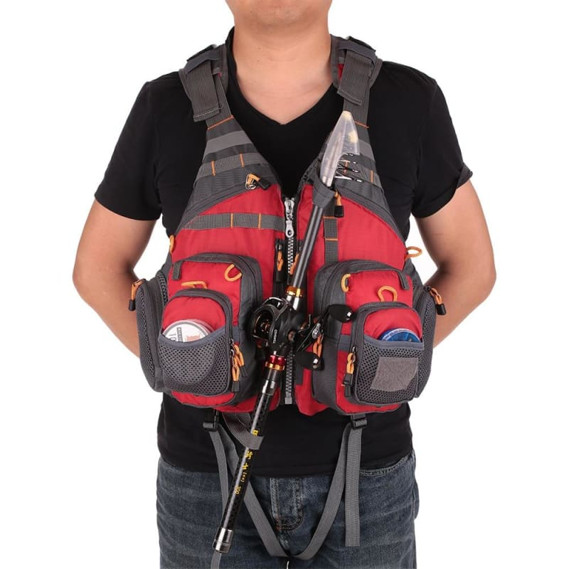 Multi-Pocket Fishing Life Vest - fishing