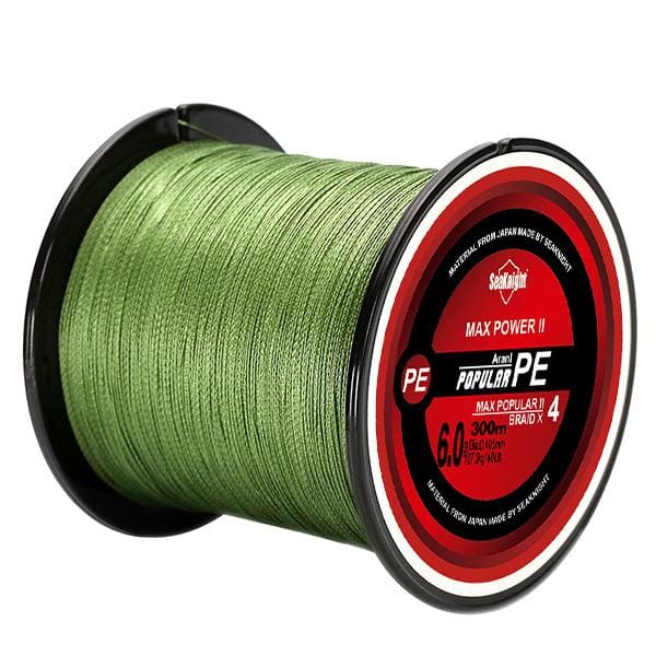 Poseidon Super Series Braided Multifilament Fishing Line - Green / 8LB 0.10mm - fishing