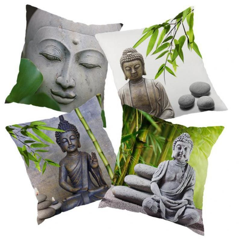 Zen Buddha Statue Cushion/Pillow Cover - pillow covers