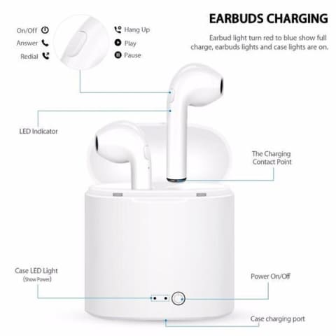 Wireless i7 TWS Bluetooth Earbuds with Charging Box