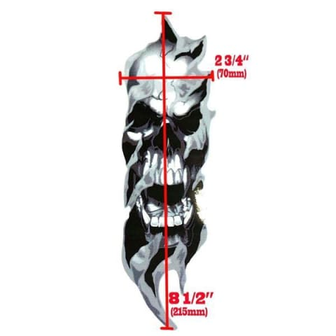 Skull Fury Front Fork Decals (Limited Time Offer)