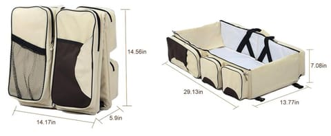 Multi-purpose All-in-One Travel Bassinet Change Station and Diaper Bag