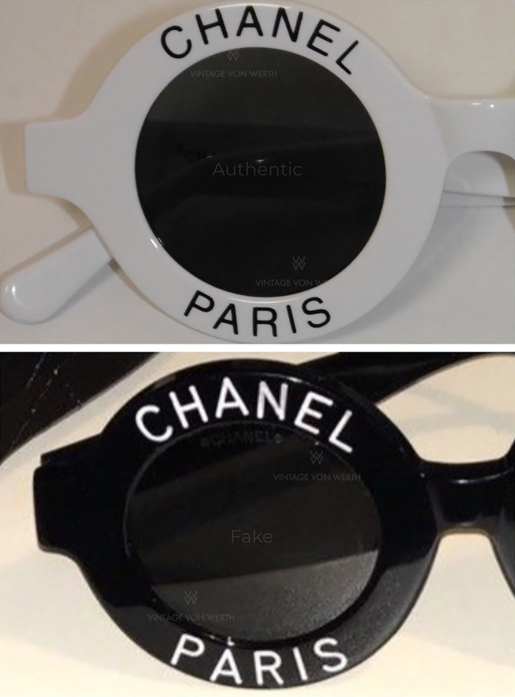 55584d97828 Below we see how the left arm is marked with the serial number. Authentic  Chanel sunglasses from the early 1990s have a